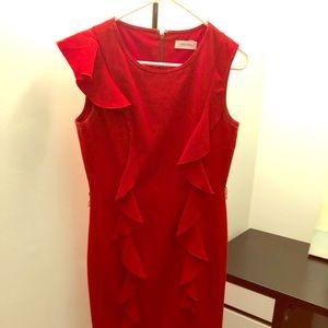 Beautiful red dress. Perfect for the office.